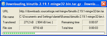 MinGW packages getting installed
